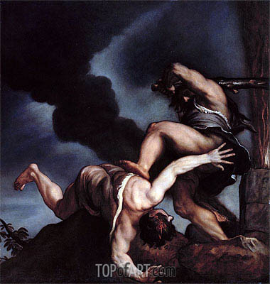 Titian | Cain taunting Abel,