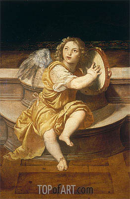 Angel with Tambourine,  | Titian | Painting Reproduction