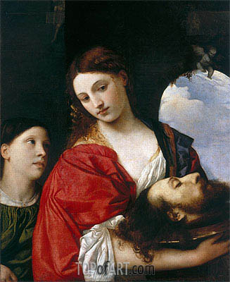 Salome with the head of St. John the Baptist,  | Titian | Painting Reproduction