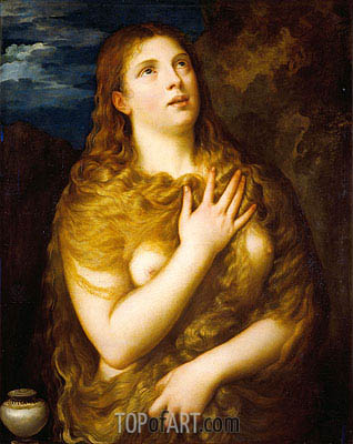 Mary Magdalene, c.1533/35 | Titian| Painting Reproduction