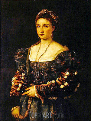Portrait of a Woman (La Bella), c.1536/38 | Titian | Painting Reproduction