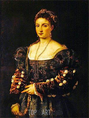 Titian | Portrait of a Woman (La Bella), c.1536/38
