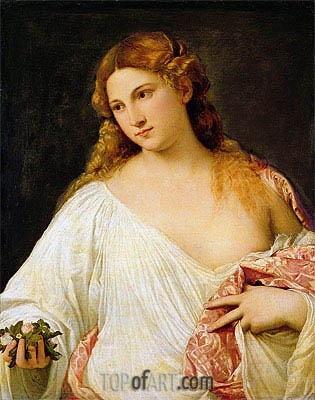 Flora, c.1515/20 | Titian| Painting Reproduction