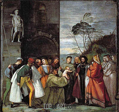 The Miracle of the Speech of the Newborn Child, 1511 | Titian| Painting Reproduction