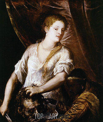 Judith with the Head of Holofernes, c.1570 | Titian| Painting Reproduction