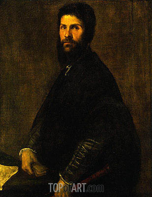 Titian | Man Holding a Flute, c.1560/65