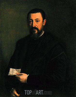 Portrait of a Gentleman, c.1550 | Titian| Painting Reproduction