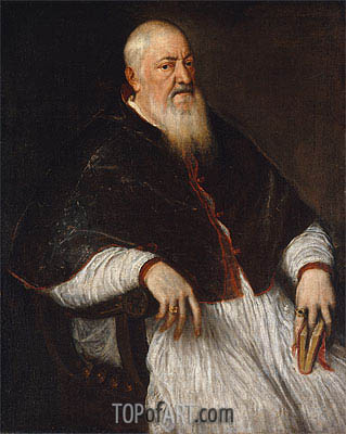 Filippo Archinto, Archbishop of Milan, c.1550 | Titian | Painting Reproduction