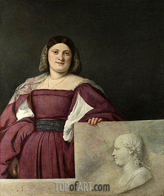 Portrait of a Lady (La Schiavona), c.1510/12 | Titian | Painting Reproduction