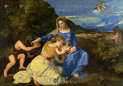 The Aldobrandini Madonna, c.1532 | Titian| Painting Reproduction