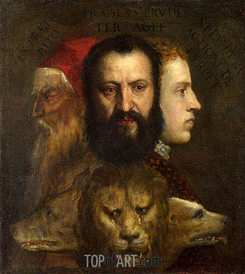 An Allegory of Prudence, c.1550/65 | Titian| Gemälde Reproduktion
