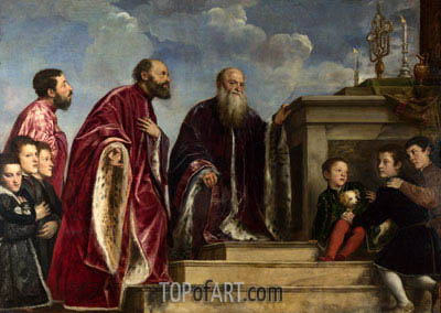 The Vendramin Family, c.1540/60 | Titian | Painting Reproduction