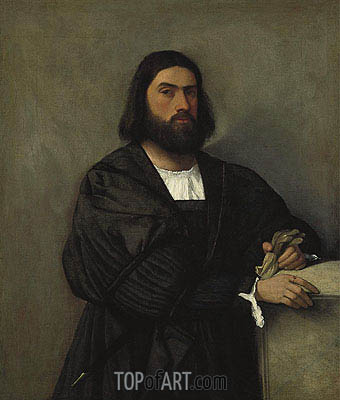 Portrait of a Man,  | Titian | Gemälde Reproduktion
