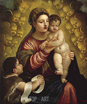 Virgin and Child with St. John,  | Titian | Painting Reproduction