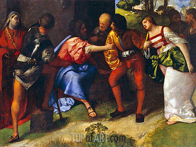 The Adulteress Brought before Christ, Undated | Titian | Painting Reproduction