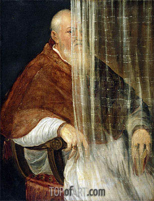 Portrait of Cardinal Filippo Archinto, 1558 | Titian| Painting Reproduction