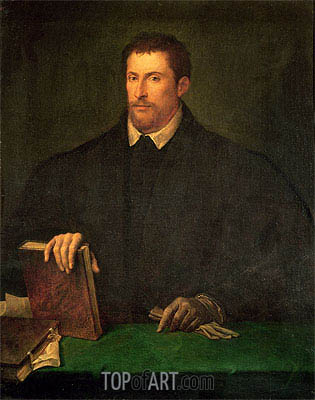 Portrait of Ippolito Riminaldi, c.1528 | Titian | Painting Reproduction