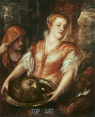 Salome with the Head of John the Baptist, undated | Titian| Painting Reproduction