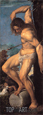 Titian | The Martyrdom of St. Sebastian (Averoldi Polyptych), 1522