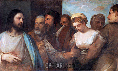Christ and the Adulteress, c.1512/15 | Titian | Painting Reproduction
