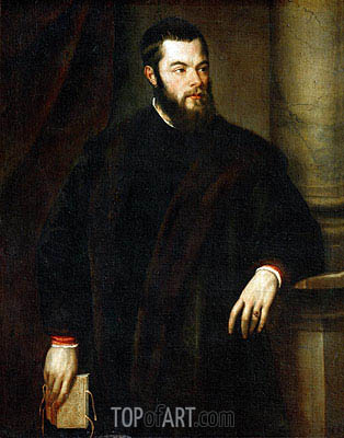 Benedetto Varchi, c.1540 | Titian | Painting Reproduction
