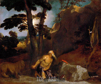 Saint Jerome, 1523 | Titian | Painting Reproduction