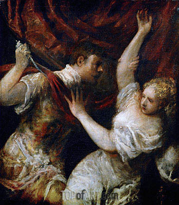Tarquinius and Lucretia, 1570 | Titian | Painting Reproduction