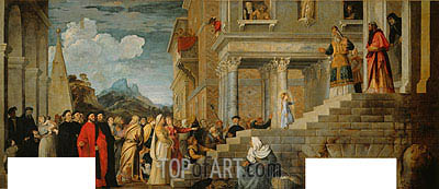 Presentation of the Virgin (Presentation of Mary in the Temple), c.1534/38 | Titian | Gemälde Reproduktion