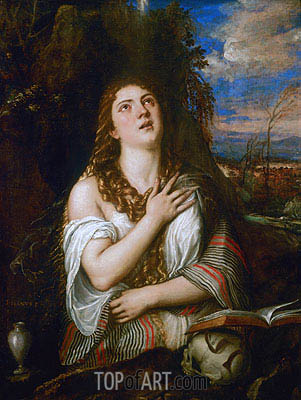 Magdalene, c.1560 | Titian | Painting Reproduction
