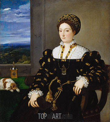 Portrait of Eleonora Gonzaga della Rovere, c.1536/38 | Titian | Painting Reproduction
