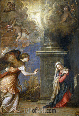 Annunciation, c.1557 | Titian| Painting Reproduction