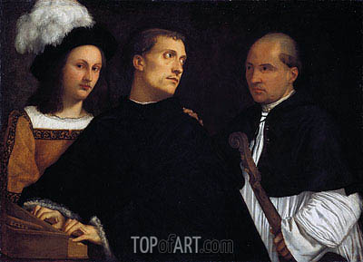 The Interrupted Concert, c.1510 | Titian| Painting Reproduction