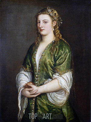 Portrait of a Lady, c.1555 | Titian | Painting Reproduction