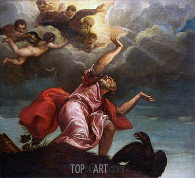 Saint John the Evangelist on Patmos, c.1547 | Titian | Painting Reproduction