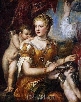 Venus Blindfolding Cupid, c.1560/70 | Titian | Painting Reproduction
