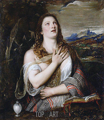 The Penitent Magdalene, c.1555/65 | Titian | Painting Reproduction