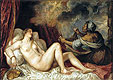 Danae receiving the Golden Rain | Tiziano Vecellio Titian