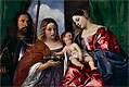 The Virgin and Child with Saints Dorothy and George | Tiziano Vecellio Titian