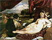 Venus and Cupid with a Lute Player | Tiziano Vecellio Tizian
