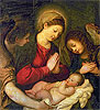 Madonna and Child with Two Angels | Tiziano Vecellio Tizian