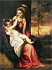 Virgin with Child at Sunset | Tiziano Vecellio Titian