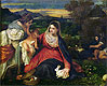 Madonna and Child with St. Catherine (The Virgin of the Rabbit)   Tiziano Vecellio Tizian