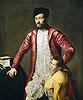Alessandro Alberti with a Page | Tiziano Vecellio Tizian