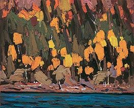 Birches and Cedar, Fall, 1915 von Tom Thomson | Gemälde-Reproduktion