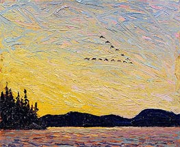 Round Lake, Mud Bay, 1915 von Tom Thomson | Gemälde-Reproduktion