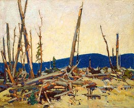 Burnt Land, 1915 von Tom Thomson | Gemälde-Reproduktion