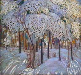Snow in October, c.1916/17 von Tom Thomson | Gemälde-Reproduktion