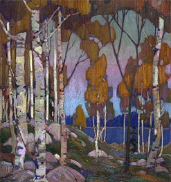 Decorative Landscape: Birches, c.1915/16 von Tom Thomson | Gemälde-Reproduktion