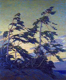 Pine Island, Georgian Bay, c.1914/16 von Tom Thomson | Gemälde-Reproduktion