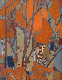 Decorative Panel III, c.1915/16 von Tom Thomson | Gemälde-Reproduktion